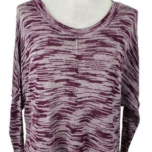 Silence + Noise Sweater Dolman Sz S Heathered Red